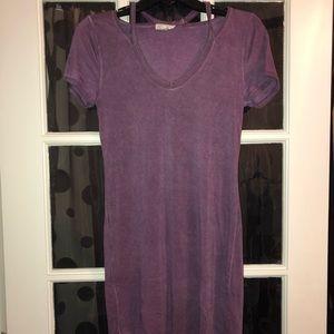Purple ultra flirt t-shirt Body con dress